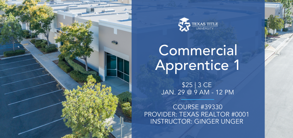 Commercial Apprentice 1: Real Estate CE Course
